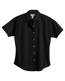 Tri-Mountain 761 Women 60/40 Stain Resistant Short Sleeve Twill Shirt