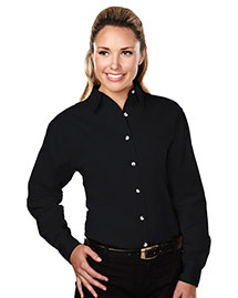 Tri-Mountain 762 Women 60/40 Stain Resistant Long Sleeve Twill Shirt