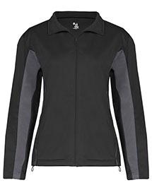 Badger 7903 Women Drive 100% Brushed Tricot Polyester Jacket at bigntallapparel
