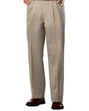 Blue Generation BG8000P Men Pleated Front Teflon Treated Twill Pant -  Khaki Length 30 Waist 52