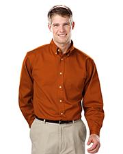 Blue Generation BG8213 Men Long Sleeve 100% Cotton Twill  -  Burnt Orange 4 Extra Large  Solid