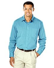 Blue Generation BG8215-CLOSEOUT Men Cross-Weave Long Sleeve Shirt Co# Aqua 4 Extra Large Solid