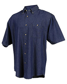 Tri-Mountain 828 Men Denim Short Sleeve Shirt