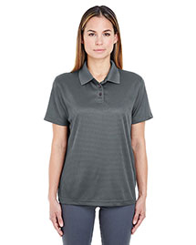 Ultraclub 8305L Women Cool & Dry Elite Minicheck Jacquard Polo