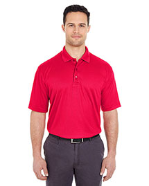 Ultraclub 8305 Men Cool & Dry Elite Minicheck Jacquard Polo