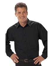 Blue Generation BG8330 Men Long Sleeve Peached Fine Line Twill  -  Black 2 Extra Large Solid