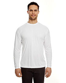 Ultraclub 8422 Men Cool & Dry Long Sleeve Tee at bigntallapparel
