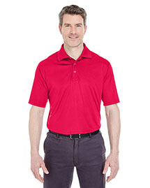 Ultraclub 8425 Men Cool & Dry Sport Snagresistant Performance Interlock Polo at bigntallapparel