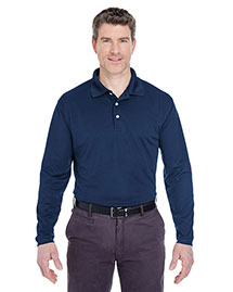 Ultraclub 8445LS Men Cool & Dry Longsleeve Stainrelease Performance Polo