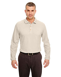 Ultraclub 8532 Men Long Sleeve Pique Polo