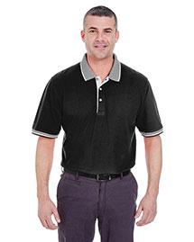 Ultraclub 8537 Men Striped Collar Polo