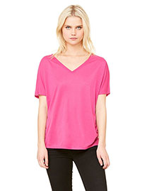 Bella 8815 Women Flowy Simple V-Neck T-Shirt