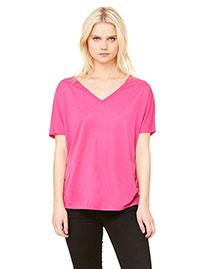 Bella 8815 Women Flowy Simple V-Neck T-Shirt at bigntallapparel