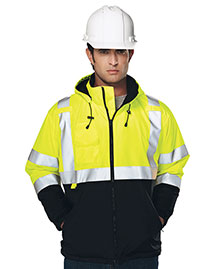 Tri-Mountain 8831 Men 100% Polyester Water-Resistant Fleece-Lined Safety Jacket at bigntallapparel