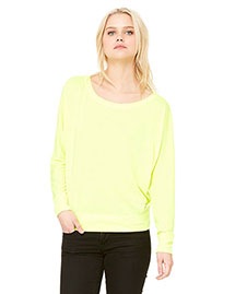 Bella 8850 Women Flowy Long-Sleeve Off Shoulder T-Shirt