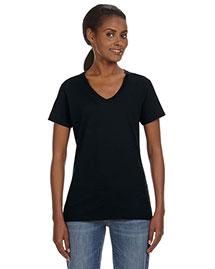 Anvil 88VL Women Ringspun V-Neck T-Shirt