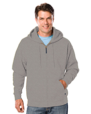 Blue Generation BG9302Z Men Adult  Fleece Zip Front Hoodie  -  Heather Grey Extra Large  Solid