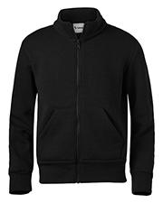 Soffe 9310M Men Adult Full Zip Mock Neck Sweatshirt at bigntallapparel