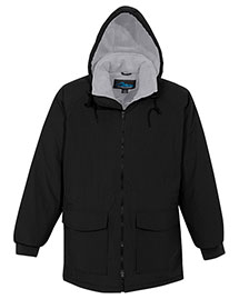 Tri-Mountain 9900 Men Big And Tall Nylon Hooded Parka Jacket With Fleece Lining at bigntallapparel