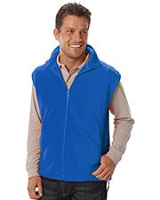 Blue Generation BG9953 Men Adult Polar Fleece Sleeveless Vest  -  Blue Small Solid
