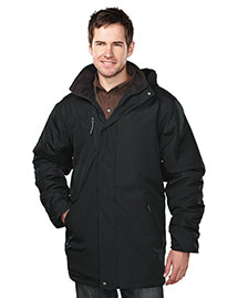 Tri-Mountain 9980 Men 100% Polyester  Long Sleeve Jacket  With Water Resistent