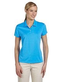 Adidas A122 Women Climalite Short-Sleeve Pique Polo at bigntallapparel
