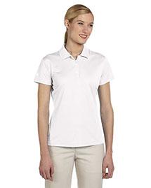 Adidas A131 Women Climalite Pique Short-Sleeve Polo at bigntallapparel