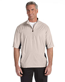Adidas A167 Men Climalite Colorblock Half-Zip Wind Shirt at bigntallapparel