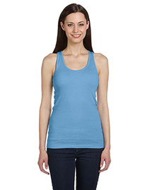 Bella B4070 Women 2x1 Rib Racerback Longer Length Tank