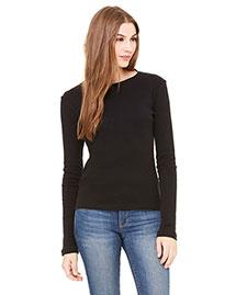 Bella B5001 Women Baby Rib Long-Sleeve T-Shirt