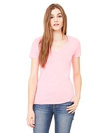 Bella B6035 Women Jersey Short-Sleeve Deep V-Neck T-Shirt