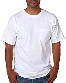 Bayside 5070 Men Shortsleeve Cotton Tee With Pocket at bigntallapparel