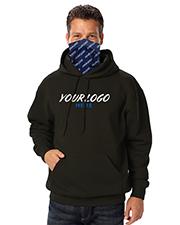 Blue Generation BG9301PG Men Adult Fleece Sublimated Gaiter Pullover  Hoodie  -  Black Large Solid