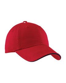Port Authority Signature C830  Sandwich Bill Cap With Striped Closure