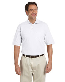 Chestnut Hill CH100P Men Performance Plus Pique Polo With Pocket at bigntallapparel