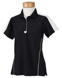 Chestnut Hill CH355W Women Piped Technical Performance Polo at bigntallapparel