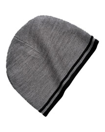 Port & Company CP93  Fine Knit Skull Cap With Stripe