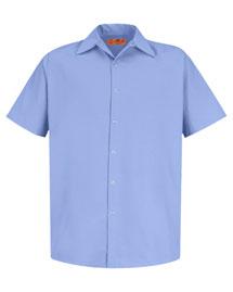 Cornerstone CS26 Men Short Sleeve Pocketless Snap Work Shirt at bigntallapparel