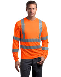 Cornerstone CS409 Men Ansi Class 3 Long Sleeve Snag Resistant Reflective T Shirt