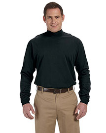 Devon & Jones D420 Men Sueded Cotton Jersey Mock Turtleneck