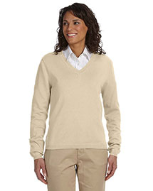 Devon & Jones D475W Women V-Neck Sweater at bigntallapparel