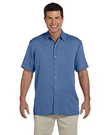 Devon & Jones D670 Men Isla Camp Shirt at bigntallapparel