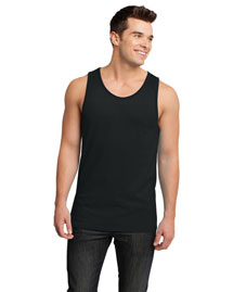 District Threads DT1500 Men Cotton Ringer Tank at bigntallapparel