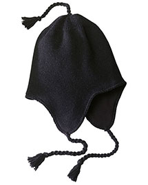 District Threads DT604  Knit Hat With Earflaps at bigntallapparel