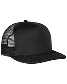 District Threads DT624  Flat Bill Snapback Trucker Cap
