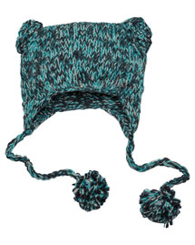District Threads DT626  Hand-Knit Cat-Eared Beanie at bigntallapparel