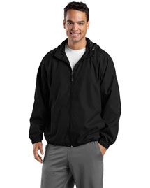 Sport-Tek JST73 Men Hooded Raglan Jacket at bigntallapparel