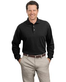Port Authority K320 Men Long Sleeve Pique Knit Polo Sport Shirt at bigntallapparel