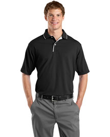 Sport-Tek K467 Men Dri Mesh Sport Shirt With Striped Collar at bigntallapparel