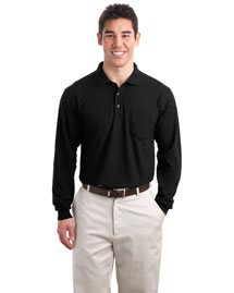 Port Authority TLK500LSP Men Tall Silk Touch Long Sleeve Polo With Pocket at bigntallapparel